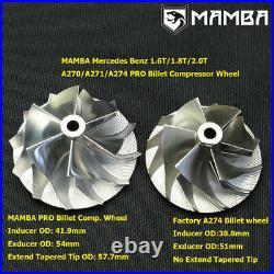 300+ HP Upgrade For Mercedes A2740902280 Turbo Repair Kit+Billet+Turbine wheel