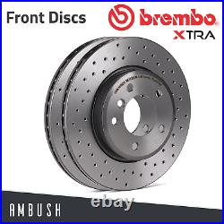 Fit Alfa Giulietta Fiat 500X Drilled Brembo Xtra Brake Discs Front 281mm Upgrade